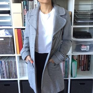 Grey Forever 21 Peacoat